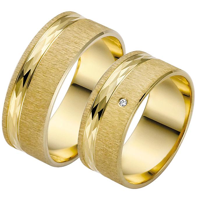 Trauringe der Trauringe-Goldschmiede.com mit unvergänglichen Diamanten
