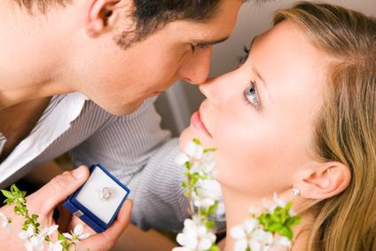 Heiratsantrag mit Verlobungsring