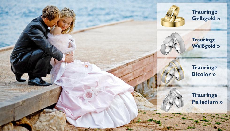 Trauringe, Ehering und Verlobungsring bei Trauringe-Goldschmiede.com bestellen - beim Stuttgarter Juwelier