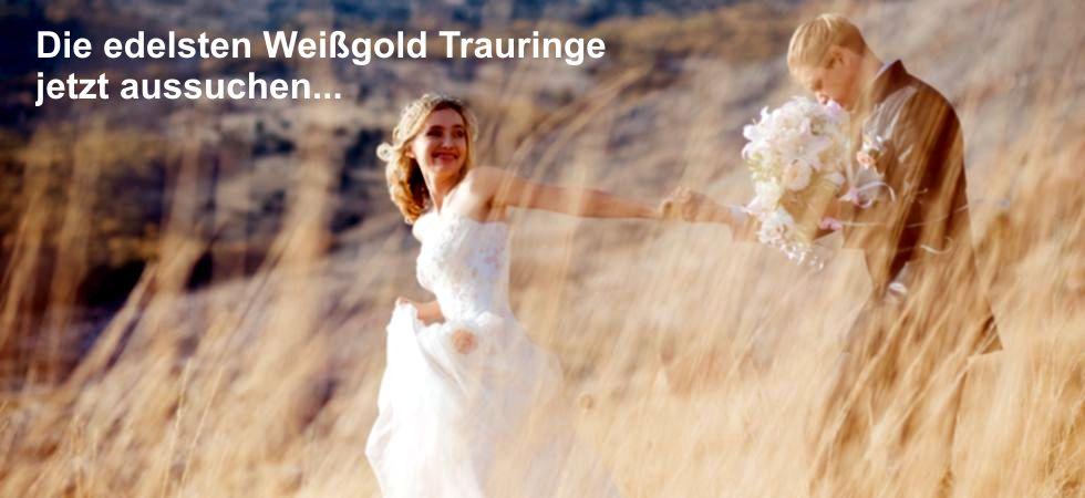 Trauringe Weissgold